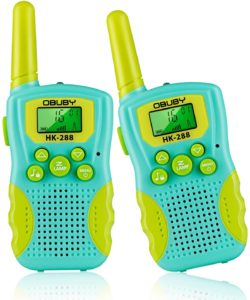 yellow and blue kids walkie talkies